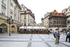 Old Town Square in historical centre of Prague. Royalty Free Stock Photos