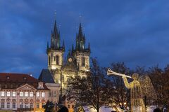 Old Town Square In Prague At Christmass Time, Czech Republic Royalty Free Stock Photo