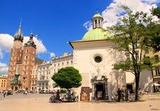 Krakow, Poland Main Market Square Stock Photos