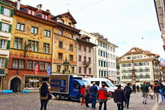 Old town square Lucerne Switzerland Royalty Free Stock Photography