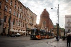 Old town square, market, Krakow 12 June 2016 Stock Photos