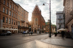 Old town square, market, Krakow 12 June 2016 Stock Photo