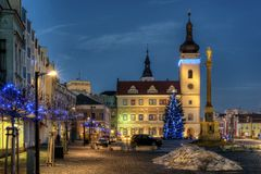 Old Town Square Mladá Boleslav Royalty Free Stock Images