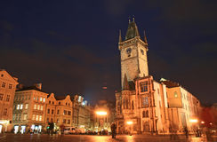 The Old Town Square at night Royalty Free Stock Images