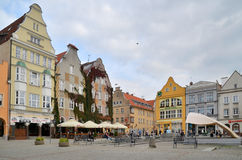 The Old Town Square in Olsztyn (Poland). Townhouses on the old town square in Olsztyn. Photo taken September 29, 2014 Royalty Free Stock Photos
