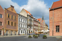 The Old Town Square in Olsztyn (Poland). Townhouses on the old town square in Olsztyn. Photo taken September 29, 2014 Royalty Free Stock Photography