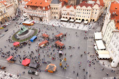 Old town square with a people Royalty Free Stock Photos