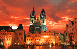 The Old Town Square in Prague Stock Photography