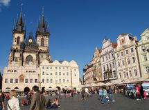Old town square,Prague. View of the Old town square in Prague Stock Photography