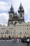 Old Town Square in Prague. Prague is the capital and largest city of the Czech Republic. It is the fourteenth-largest city in the European Union. Prague has Royalty Free Stock Image