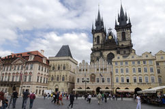 Old Town Square in Prague. Prague is the capital and largest city of the Czech Republic. It is the fourteenth-largest city in the European Union. Prague has Royalty Free Stock Photography