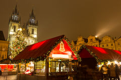 Old town square in Prague at Christmass time. royalty free stock photos