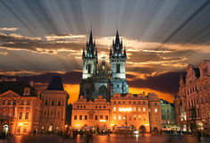 The Old Town Square in Prague City Royalty Free Stock Image