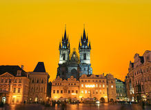 The Old Town Square in Prague City Stock Image