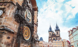 Old Town Square in Prague, Czech Republic Stock Images