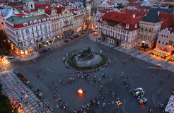 Old Town Square in Prague Stock Photos