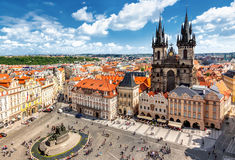 Old Town Square in Prague Stock Photography