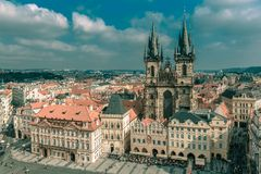 Old Town square in Prague, Czech Republic Stock Photos