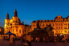 Old Town Square  in Prague, Czech Republic Royalty Free Stock Photos