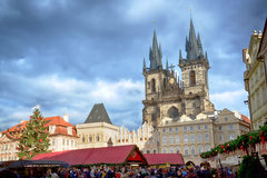 Old town square in Prague. Royalty Free Stock Photo