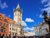 Old Town Square in Prague, Czech Republic Stock Photography