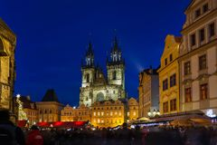 Old town square in Prague Royalty Free Stock Photos