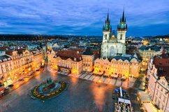 Old Town Square in Prague, Czech Republic Stock Image