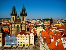 Old Town Square, Prague, Czech Republic. View of the old town on Royalty Free Stock Photography