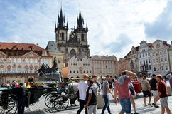 The Old Town Square in Prague Royalty Free Stock Photos