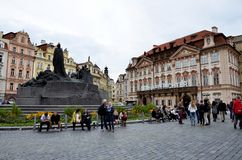 The old town square in Prague Stock Images