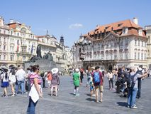 Old Town Square in Prague Stock Images