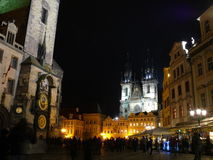 Old Town Square - Prague. Historic square in the Old Town quarter of Prague at night Stock Photography