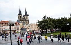 The old town square in Prague Royalty Free Stock Image