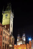Old Town Square of Prague at night Royalty Free Stock Photo