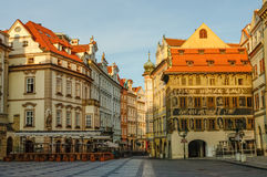Old Town Square of Prague(Staromestske namesti) in early morning Royalty Free Stock Images