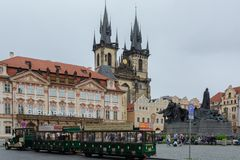 Old town Square Prague, Czech Republic July 2017 royalty free stock photo
