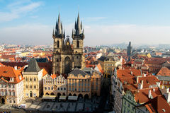 Old Town Square in Prague Royalty Free Stock Images