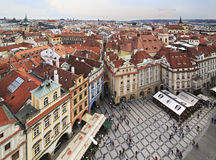 Old Town Square in Prague. View from the Old Town Hall Royalty Free Stock Photo