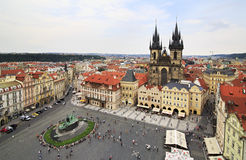 Old Town Square in Prague. View from the Old Town Hall Stock Photos