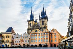Old Town Square in Prague, view with no people royalty free stock photos