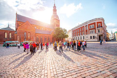 Old town square in Riga Royalty Free Stock Image