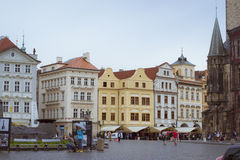 Old Town Square, Tyn Cathedral of the Virgin Mary, monument of Jan Hus, Prague Royalty Free Stock Photos