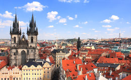 Old Town Square, Tyn Church Stock Photography