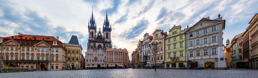 Old Town square with Tyn Church in Prague Royalty Free Stock Photography