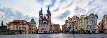 Old Town square with Tyn Church in Prague Royalty Free Stock Photo