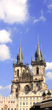 Old Town Square, Tyn Church, Prague Stock Photography