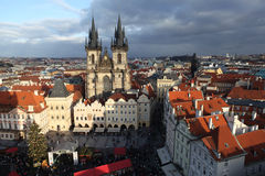 Old Town Square with views of the Tyn Church. Prague. Czech Republic Royalty Free Stock Image