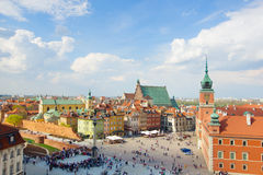 Old town square, Warsaw, Poland Stock Images