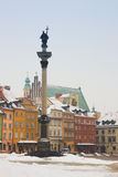 Old town square, Warsaw, Poland stock photography