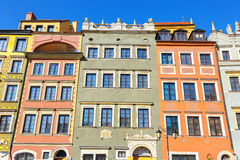 Old town square in Warsaw. Poland Stock Images